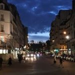 Paris evening street